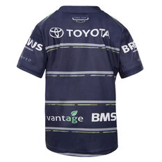 North Queensland Cowboys 2021 Kids Defence Jersey Navy 4, Navy, rebel_hi-res