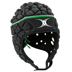 Gilbert Xact Headgear Green / Black XL, Green / Black, rebel_hi-res