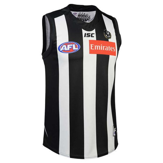 Collingwood Magpies 2020 Mens Home Guernsey Black / White S, Black / White, rebel_hi-res