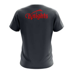 Newcastle Knights Exclusive Tee Grey S, Grey, rebel_hi-res