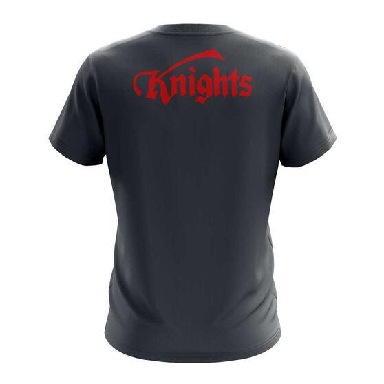 Newcastle Knights Exclusive Tee, Grey, rebel_hi-res