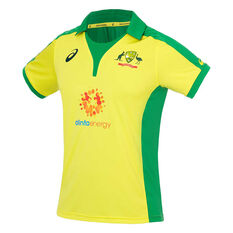 Cricket Australia 2019/20 Mens ODI Replica Shirt Yellow S, Yellow, rebel_hi-res