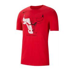 Chicago Bulls Mens Dry Logo Tee Red S, Red, rebel_hi-res
