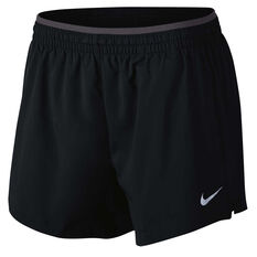 Nike Womens Flex Elevate 5in Running Shorts Black / Grey XS Adult, Black / Grey, rebel_hi-res