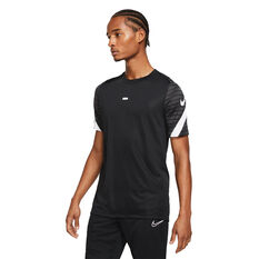 Nike Mens Dri-FIT Strike Short Sleeve Soccer Tee Black S, Black, rebel_hi-res