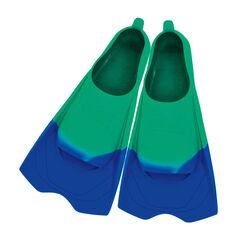 Zoggs Ultra Silicone Fins Aqua US 12 - 13, , rebel_hi-res