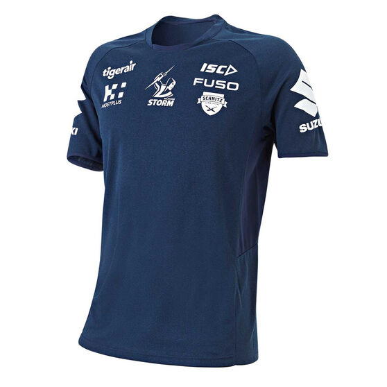 Melbourne Storm 2019 Mens Training Tee Navy M, Navy, rebel_hi-res