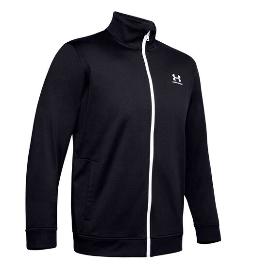 Under Armour Mens Sportstyle Tricot Jacket, Black, rebel_hi-res