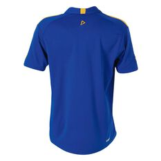 West Coast Eagles 2018 Performance Polo Shirt Blue S, Blue, rebel_hi-res