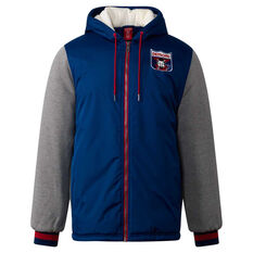 Melbourne Demons Mens Sideline Jacket Blue S, Blue, rebel_hi-res