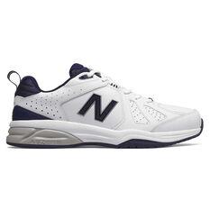 New Balance 624 V4 2E Mens Cross Training Shoes White / Navy US 7, White / Navy, rebel_hi-res