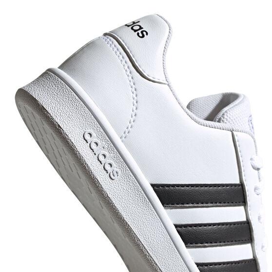 adidas Grand Court Kids Casual Shoes, White/Black, rebel_hi-res