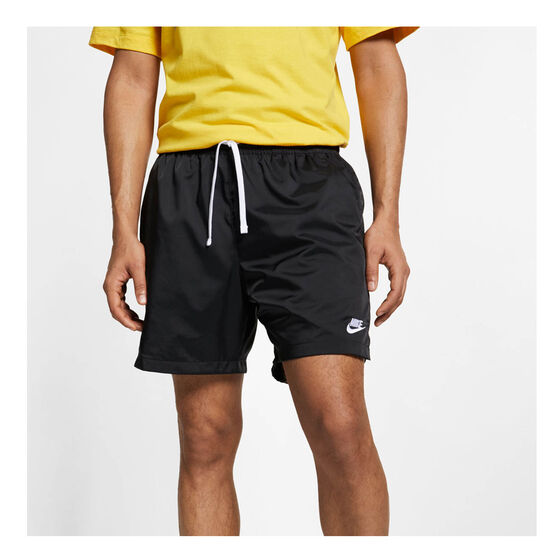 Nike Mens Sportswear Woven Flow Shorts, Black, rebel_hi-res