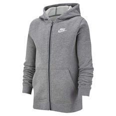 Nike Boys Sportswear Volume Fleece Club Hoodie Grey / White XS, Grey / White, rebel_hi-res