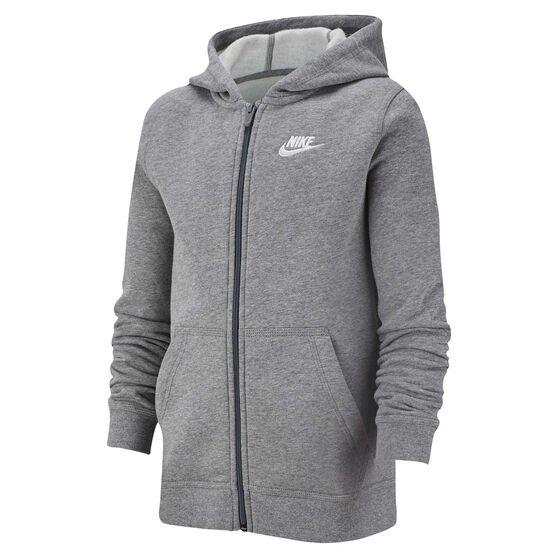 Nike Boys Sportswear Volume Fleece Club Hoodie, Grey / White, rebel_hi-res