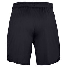 Under Armour Mens Stretch Training 7in Shorts, Black, rebel_hi-res