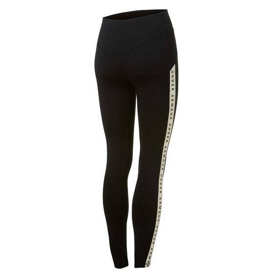 Under Armour Womens Taped Favourite Tights Black L, Black, rebel_hi-res