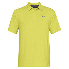 Under Armour Mens Playoff 2.0 Polo Yellow S, Yellow, rebel_hi-res