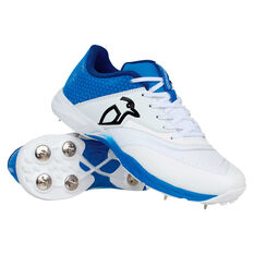 Kookaburra Pro 2.0 Cricket Shoes White/Blue US 8, White/Blue, rebel_hi-res