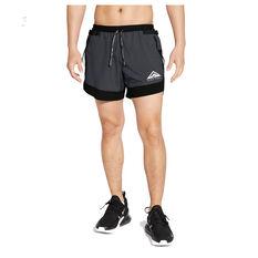 Nike Mens Dri Fit Flex Stride Trail Shorts Grey S, Grey, rebel_hi-res
