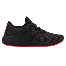 New Balance Cruz Womens Running Shoes Black / Red US 6, Black / Red, rebel_hi-res