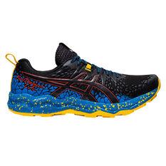 Asics Fuji Trabuco Lyte Mens Trail Running Shoes Black/Blue US 8, Black/Blue, rebel_hi-res