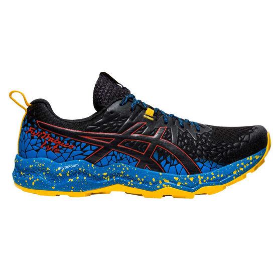 Asics Fuji Trabuco Lyte Mens Trail Running Shoes, Black/Blue, rebel_hi-res