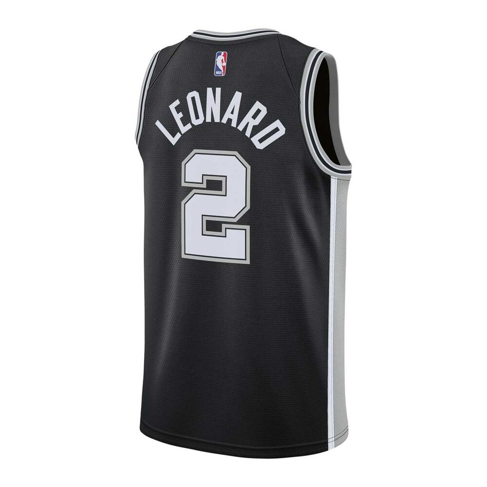 3b582b78d83 Nike San Antonio Spurs Kawhi Leonard 2018 Mens Swingman Jersey Black ...