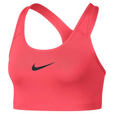 Nike Womens Swoosh Sports Bra Red / Black XS, Red / Black, rebel_hi-res