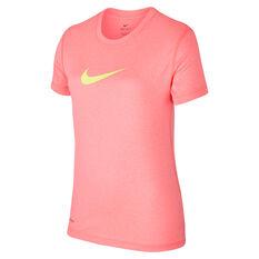 Nike Girls Dry Legend Training Tee Orange XS, Orange, rebel_hi-res