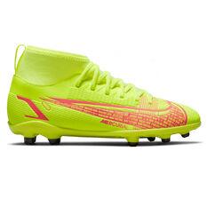 Nike Mercurial Superfly 8 Club Kids Football Boots Yellow/Black US 1, Yellow/Black, rebel_hi-res