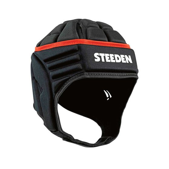 Steeden Elite Rugby League Headgear, Black, rebel_hi-res