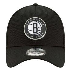Brooklyn Nets New Era 39THIRTY Cap Black S / M S / M, Black, rebel_hi-res