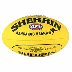 Sherrin Soft Touch Junior Australian Rules Ball Yellow 8in, Yellow, rebel_hi-res