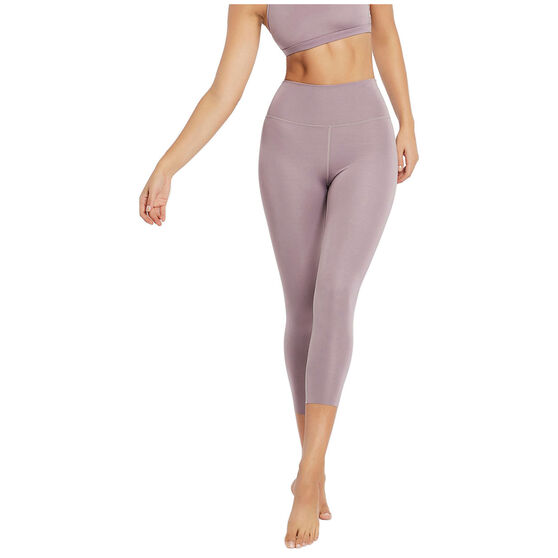 Nimble Womens All Day High Rise Tights, Purple, rebel_hi-res