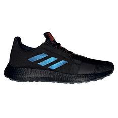 adidas Senseboost Go Mens Running Shoes Black / Blue US 8, Black / Blue, rebel_hi-res