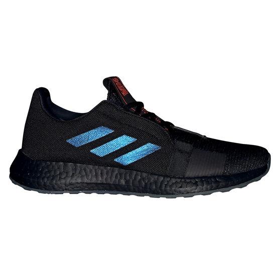 adidas Senseboost Go Mens Running Shoes, Black / Blue, rebel_hi-res