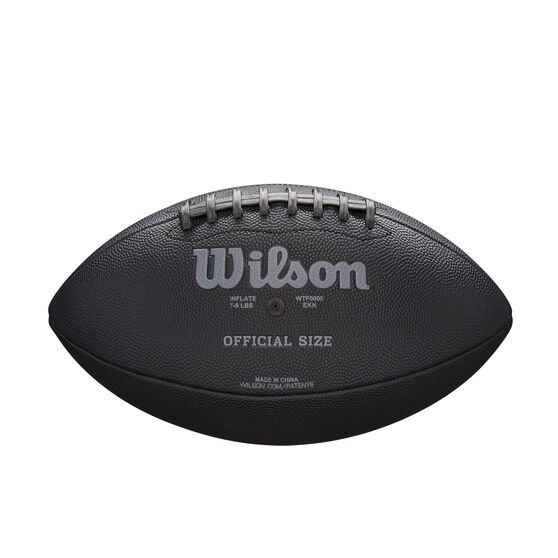 Wilson NFL Jet Black Football, , rebel_hi-res
