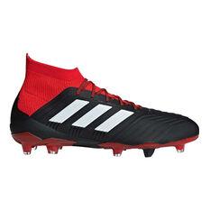 adidas Predator 18.1 Mens Football Boots Black / White US 7, Black / White, rebel_hi-res