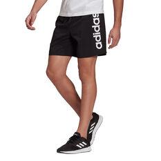 adidas Mens AEROREADY Essentials Chelsea Linear Logo Shorts Black XS, Black, rebel_hi-res