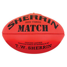 Sherrin Match Australian Rules Ball Red 3, , rebel_hi-res