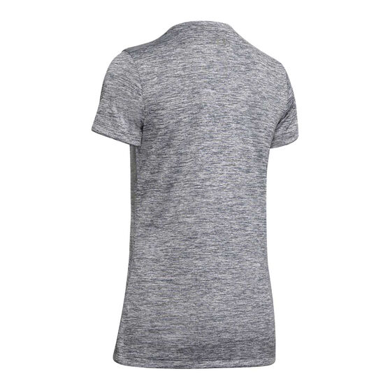 Under Armour Womens Tech Twist Tee, Grey, rebel_hi-res