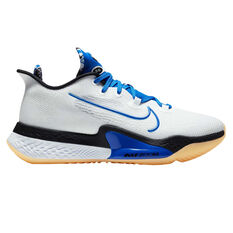 Nike Air Zoom BB Next% Mens Basketball Shoes, White/Blue, rebel_hi-res