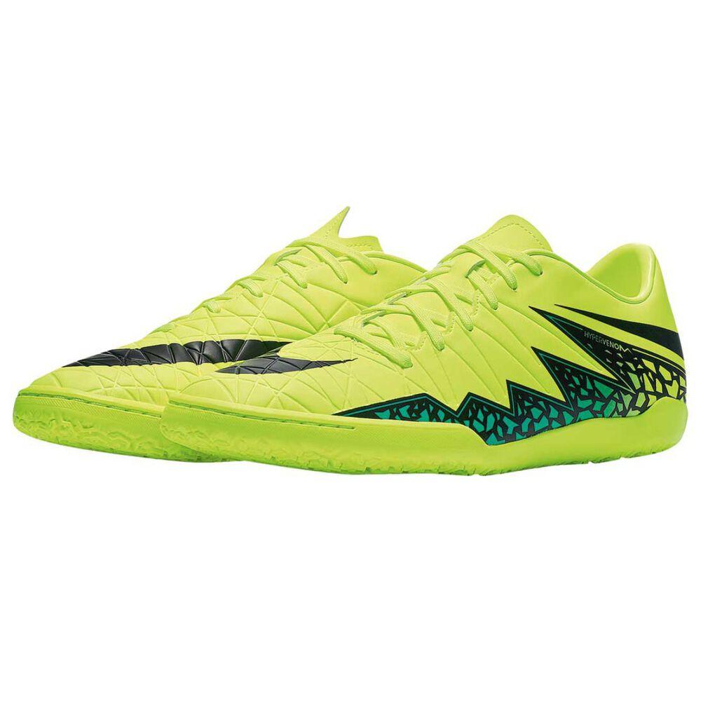 2fce08511c54 Nike Hypervenom Phelon II Mens Indoor Soccer Shoes Volt   Black US 8 Adult