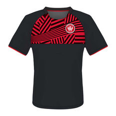 Western Sydney Wanderers Mens Supporter Training Tee Red S, Red, rebel_hi-res