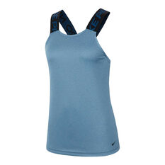 Nike Pro Womens Tank Blue XS, Blue, rebel_hi-res