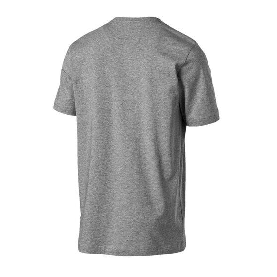 Puma Mens Essential Logo Tee, Grey, rebel_hi-res
