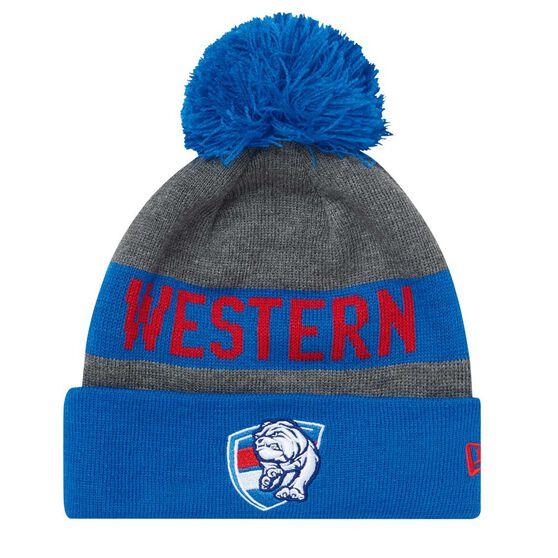 Western Bulldogs 2018 New Era Jake Beanie Grey OSFA, , rebel_hi-res