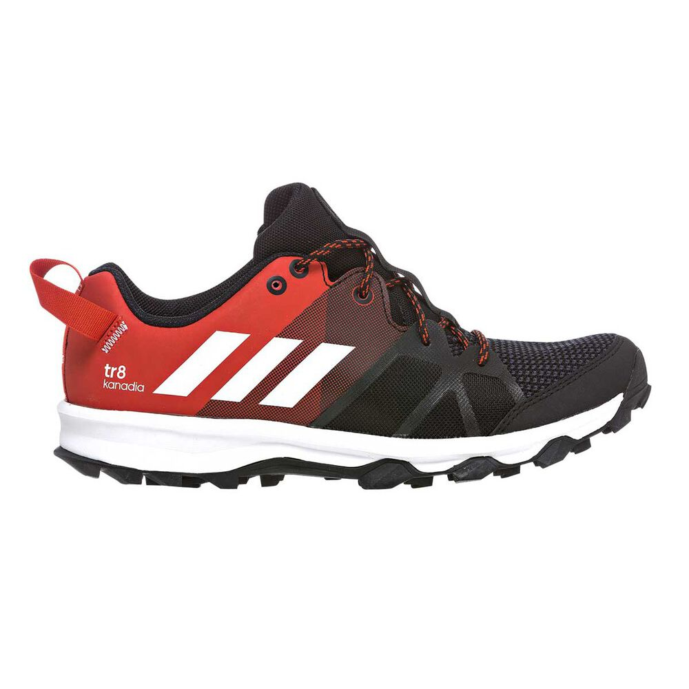check out 6d0f4 5bb27 adidas Kanadia 8 Boys Trail Running Shoes Black   Red US 4, Black   Red