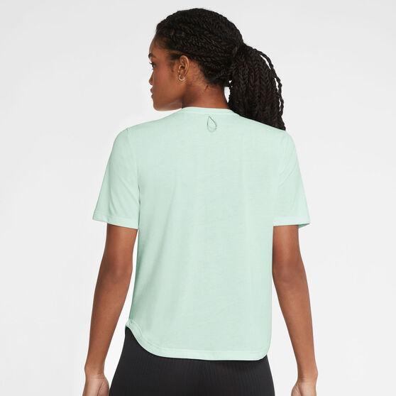 Nike Womens Run Division Tee, Green, rebel_hi-res